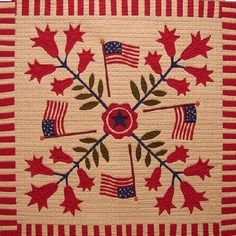 Red And White Quilts, Blue Quilts, Small Quilts, Appliqué Quilts, Flag Quilt, Patriotic Quilts, Quilt Blocks, Quilt Of Valor, Antique Quilts