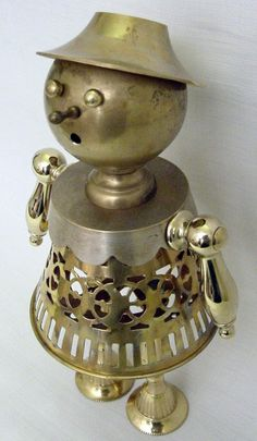 'Lacy, The Brassy Lassie' - found object sculpture made by butcherooney