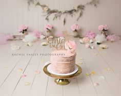 pink and floral whimsical princess cake smash session www.racheleasleyphotography.com.au Brisbane AUSTRALIA