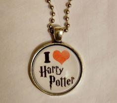 Harry Potter Necklace I Love Harry Potter. 18 by EvangelinasCloset, $14.00