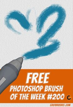 Download the GrutBrushes Photoshop Brush of the week on the Free Brushes page with one click, No email registration required! You can download a new one every week, but dont miss it.   Don't forget that you can also use these in ArtstudioPro and Adobe Sketch on the iPad   #photoshop #brushes #artstudiopro Less Free Photoshop, Photoshop Brushes, Photoshop Design, Photoshop Tutorial, Free Brushes, Artist Brush, Photoshop Illustrator, Photo Manipulation, Mixed Media Art
