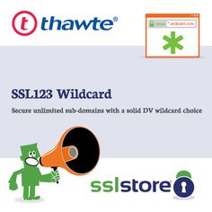 Thawte™ is one of the most respected names in the SSL industry. This low-cost certificate offers the industry standard 128/256-bit encryption and is one of the most popular Domain Validated (DV) SSL certificates on the planet. What makes it so popular is its combination of trust, security, and speed – as this certificate and it's widely recognized brand can be issued to a domain in less than one business day. For more click: https://www.thesslstore.com/thawte/ssl123.aspx