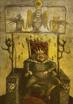King of Coins - Akron Tarot by S.O. Huttengrund