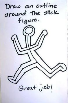 Keith Haring Inspired Night Light elementary art education how to draw movement kinetic figures