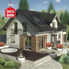 Find your house plan Wood Facade, Duplex House Plans, Dream Beach Houses, Cottage Homes, Home Fashion, Gazebo, Outdoor Structures, House Design, Patio
