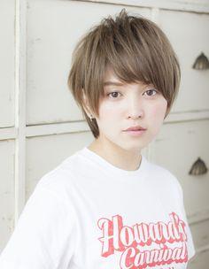 小顔ショート(TYー167)   ヘアカタログ・髪型・ヘアスタイル AFLOAT(アフロート)表参道・銀座・名古屋の美容室・美容院