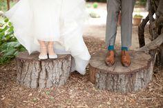 新郎新婦のための結婚式の靴