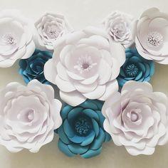 Instagram Large Paper Flowers, Giant Flowers, Paper Flower Wall, Paper Roses, Flower Backdrop, Backdrops, Bridal Shower, Room Decor, Instagram Posts
