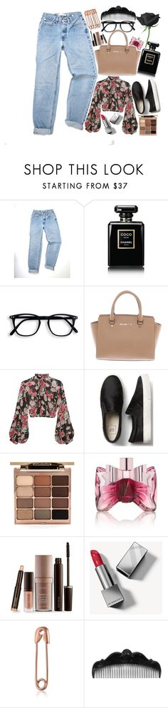"""👸 Be your own kind of beautiful 👸"" by fangirl-preferences ❤ liked on Polyvore featuring Chanel, Michael Kors, Jill Stuart, Stila, Viktor & Rolf, Laura Mercier, Burberry, Anna Sui, set and shoes"