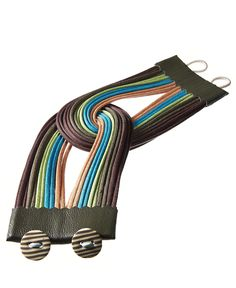 Tthe creation of Rio de Janeiro native Luisa Herculaneaum. Lanno Wrist Wrap - colorful, fun...from Macy's