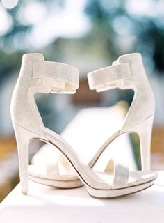 Featured Photographer: Tauran Photography; Wedding shoes idea.
