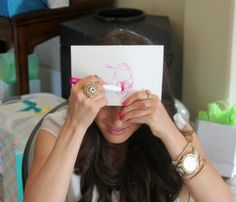 Baby's First Portrait, 15 Entertaining Baby Shower Games via Pretty My Party