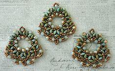 """ALESSIA'S FAN EARRINGS   15/0 seed beads Toho """"Antique Silver"""" (711)  11/0 seed beads Toho """"Antique Silver"""" (711)  8/0 seed beads Toho """"..."""