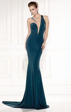 Beaded Sleeveless Jersey Gown by Tarik Ediz 92437 by Tarik Ediz