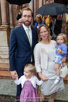 ITA/Parma/20120929- Doop prinses Luisa Irene, Tjalling, Margarita, Julia en Paola