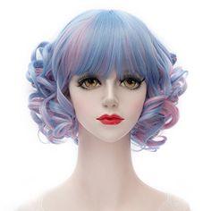 MQ Cosplay Wig COS Lolity Short Curly Wave Hair 1177 (Blu... https://www.amazon.com/dp/B019O1HHTM/ref=cm_sw_r_pi_dp_x_4w8.ybQP5X4S9