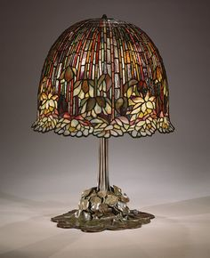 Lamp, 1904–15 Louis Comfort Tiffany (American, 1848–1933); Tiffany Studios Leaded Favrile glass, bronzeThis water-lily table lamp is one of Tiffany's most successfully executed designs for his firm's well-known leaded-glass products.