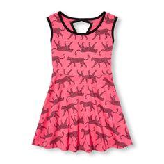 Girls Sleeveless Printed Cutout Back Dress | The Children's Place