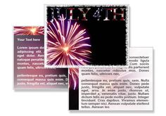 Fireworks July 4th Template