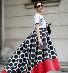 Modne spódnice wiosna-lato 2014, street fashion, fot. Imaxtree