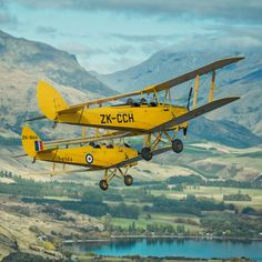 When I went to Wanaka for the Instameet day, Stu and I arrived early to go fly around in some of these awesome old planes. These are called Tiger Moths and they are just as much fun as they look. Well, I mean it's more fun if you're not in the middle of a war with the Germans and stuff. - Wanaka, New Zealand - Photo from #treyratcliff Trey Ratcliff at http://www.StuckInCustoms.com