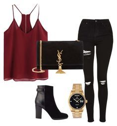 """#89"" by tropicaldoze ❤ liked on Polyvore featuring Topshop, Jigsaw, Rolex and Yves Saint Laurent"