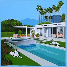 Backyard Pool Designs, Small Backyard Pools, Swimming Pools Backyard, Swimming Pool Designs, Swimming Pool Accessories, Backyard Beach, Backyard Ideas, Modern Pools, Mid-century Modern