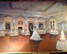 Such a unique way to capture wedding memories--live event painting!