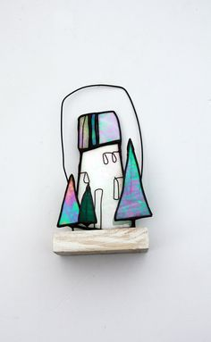 Stained Glass Decoration 'Little Pines' by mbGlassArt on Etsy, £20.00
