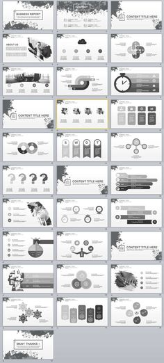 Business infographic : 31 Business Report PowerPoint templates