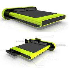 Futuristic looking new bed by Karim Rashid Designs
