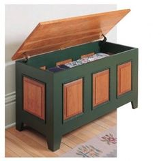Heirloom Blanket Chest Downloadable Plan- You'd never know by looking at it, but this charming cherry chest bypasses traditional mortise and tenon joinery in favor of a unique combination of rabbet and lap joints.