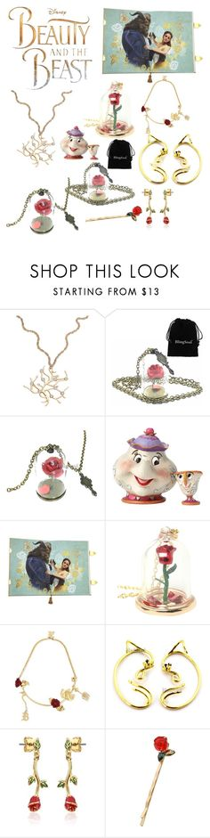 """""""Beauty and the Beast Necklace & Jewelries"""" by colesandra on Polyvore featuring Disney, Christopher Kane and Atelier Swarovski"""