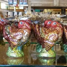 You know it's almost Thanksgiving when you start seeing the Sanders milk chocolate turkeys! A perfect chocolate treat that also serves as festive decor for this Fall season and Thanksgiving! Idea: place a foiled turkey at the dinner table for each guest to enjoy as dessert. $5.99