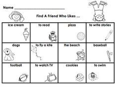 Find a Friend Activity download. Maybe give each Kinder x number of name labels so they can share only so many and most get to share their stickers not only the fast ones?