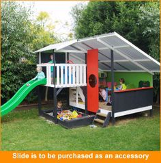 The Ultimate Wooden Cubby House - Mega Triplex 3000mm x 2400mm