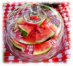Use a cake stand w/lid for outside food