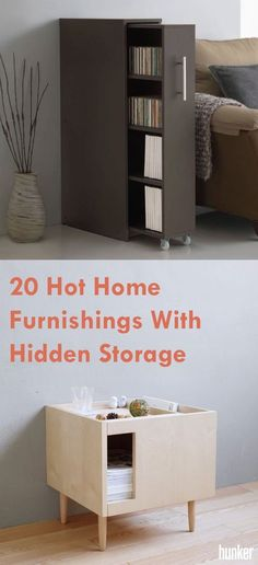 Furniture with hidden storage is straight up magical. Here are 20 pieces that do the most with with what they've got. Closet Hacks, Room To Grow, Office Storage, Bedroom Office, Hidden Storage, Closet Space, Small Living, My Room, My Dream Home