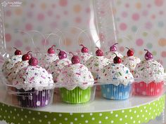 Cupcake Ornaments 12 pack by Amy Miller Designs, via Flickr