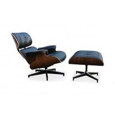 Eames Chair & Stool Black Premium Replica