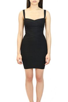 Crossover Bandage Dress Available in: Black, Citrus, Cherry, Pumpkin, White, Violet and Azure.  oakandstate.com