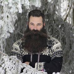 Nils K.Lovebeard by Betty Camilla Hellum Sexy Beard, Beard Love, Epic Beard, Walrus Mustache, Beard No Mustache, Moustache, Grey Beards, Long Beards, Hairy Men