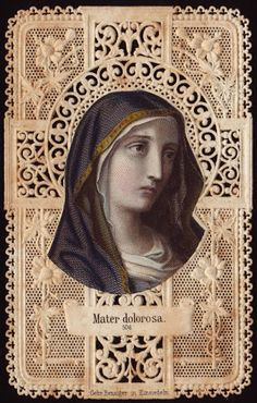 September Feast of Our Lady of Sorrows, Mater Dolorosa Religious Images, Religious Icons, Religious Art, Catholic Art, Catholic Saints, Etiquette Vintage, Vintage Holy Cards, Saints And Sinners, Mama Mary