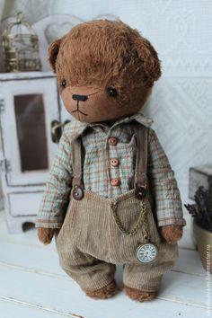 Купить Сашка - мишка, мишка тедди, мишка ручной работы, коллекционные медведи, мишка мальчик