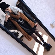 Grunge Outfits, Edgy Outfits, Grunge Fashion, Cool Outfits, Fashion Outfits, Rockabilly, Black Milk Clothing, Vegan Leather Jacket, Clothing Logo