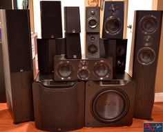 SVS Ultra Speakers and SB16-Ultra. Ultimate #DolbyAtmos home theater system review. #svs #svsound Home Cinema Systems, Home Theater Speaker System, Home Cinema Room, Home Theater Setup, Speaker Amplifier, Speaker Stands, Wireless Music System, Best Speakers, Dolby Atmos