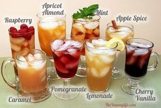 8 Flavored & Healthy Iced Tea Recipes...http://homestead-and-survival.com/8-flavored-healthy-iced-tea-recipes/