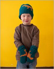 Children's Crochet Hat Patterns (and Gloves): T. Rex Hat and Mitts