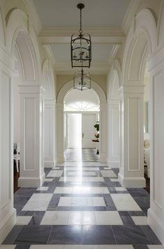 102 Banyan Road Palm Beach, FL 33480   Fite Shavell & Associates - classic flooring gorgeous millwork