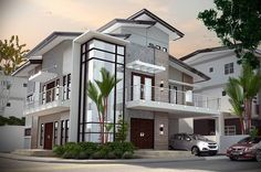 Impressive Modern Residences Exterior Design Ideas To Draw Inspiration From 2 Storey House Design, Modern House Design, Modern House Styles, Dream House Plans, My Dream Home, Architecture Design, Modern Minimalist House, Modern Zen House, Casas Containers